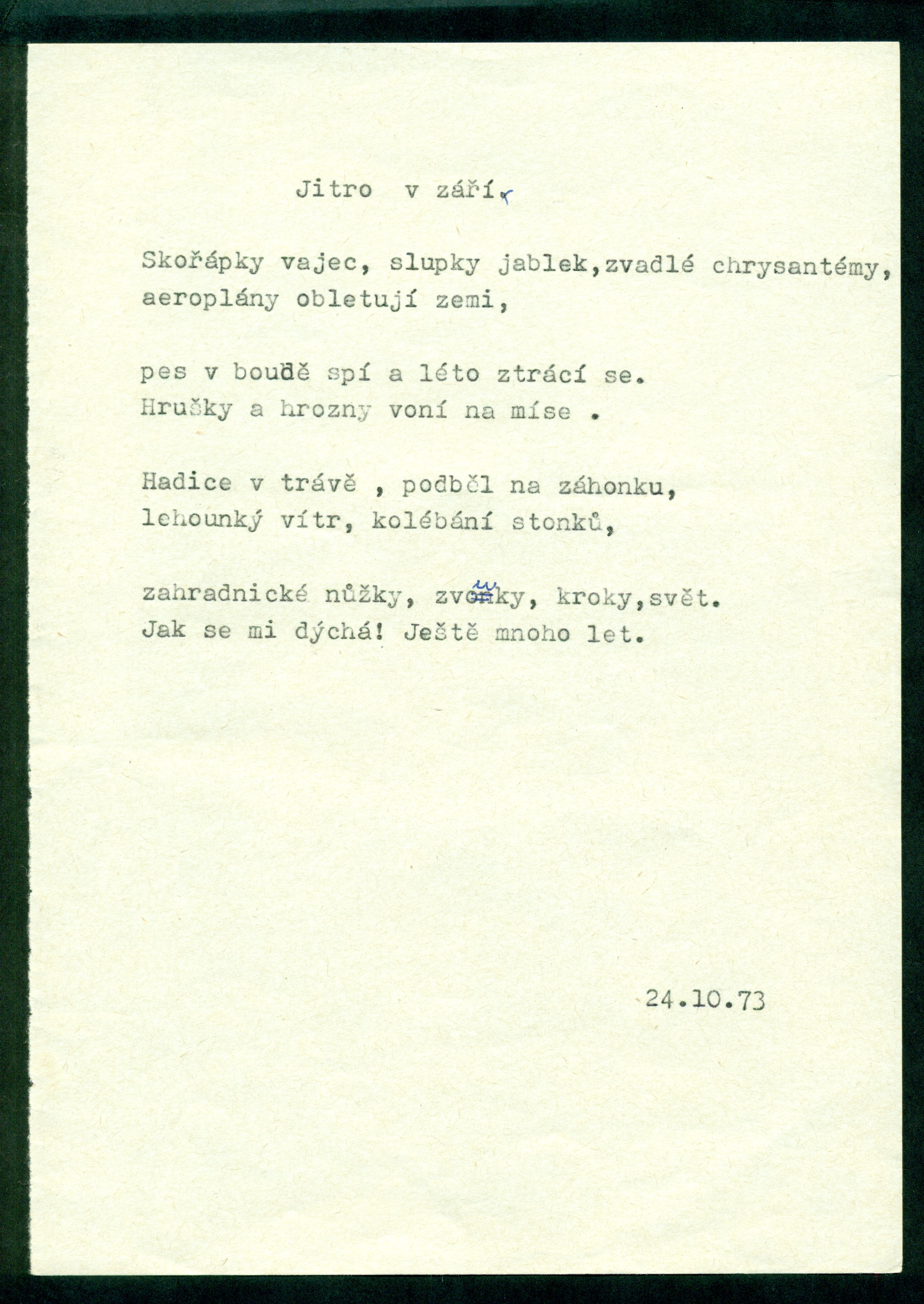 Literary Archive of the Museum of Czech Literature (LA PNP)