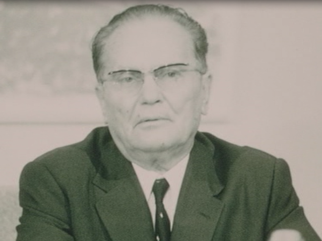 The archival scene shows Tito being nervous before his speech to the students in 1968, as well as parts of his TV speech. Showing Tito in such a way became one of the biggest controversies around the film.