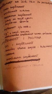 Primjer izvornog omota i naziva tematskih odrednica prema kojima su novinski članci grupirani. U osnovnom tematskom području Kultura, temi Književnost, jedna od podtema je Književnost i politika. Unutar nje, oblikovano je više nižih tematskih odrednica, a među njima i: odnos Saveza komunista Jugoslavije prema književnosti, ideološki sporne knjige i publikacije te zabrane knjiga i publikacija (HR-HDA-2031. Vjesnik. 2.1. Vjesnikova novinska dokumentacija, registrator KUL 47) (2017-02-08).