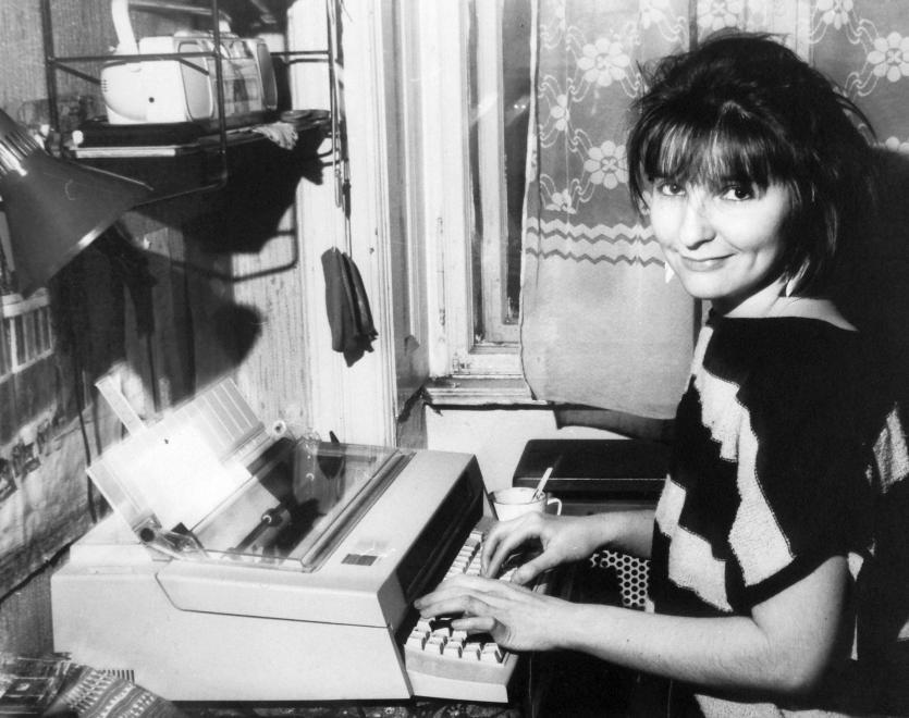 "Anna Vágner, the typis of Beszélő (""Speaker"") samizdat journal."