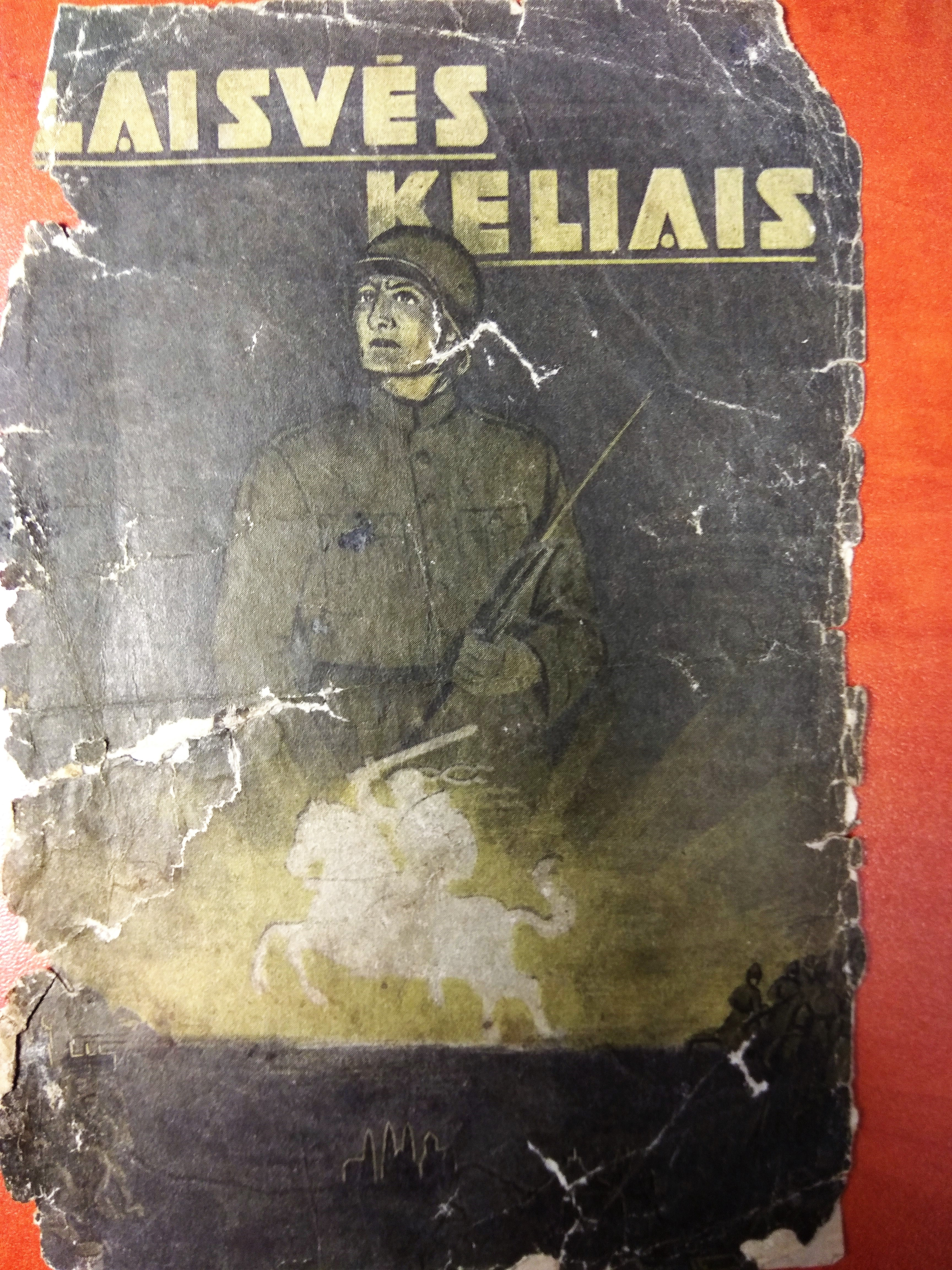 The cover of newspaper 'Laisvės kelias' (Way of Freedom)  made by Lithuanian Anti-soviet partisans.