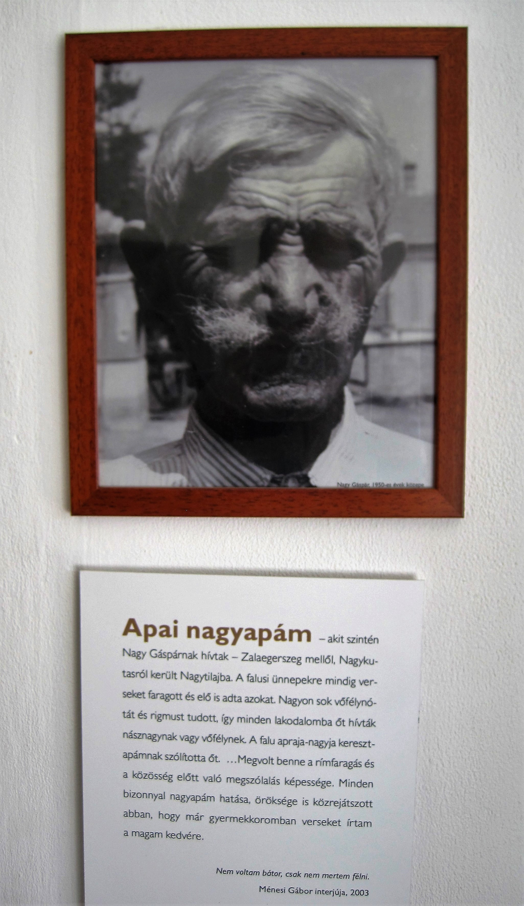 Gáspár Nagy's paternal grandfather