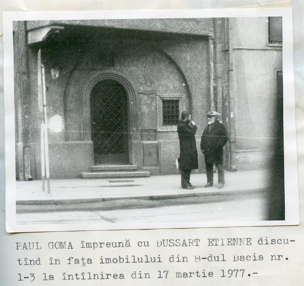 Surveillance of Goma's meetings, 17 March 1977