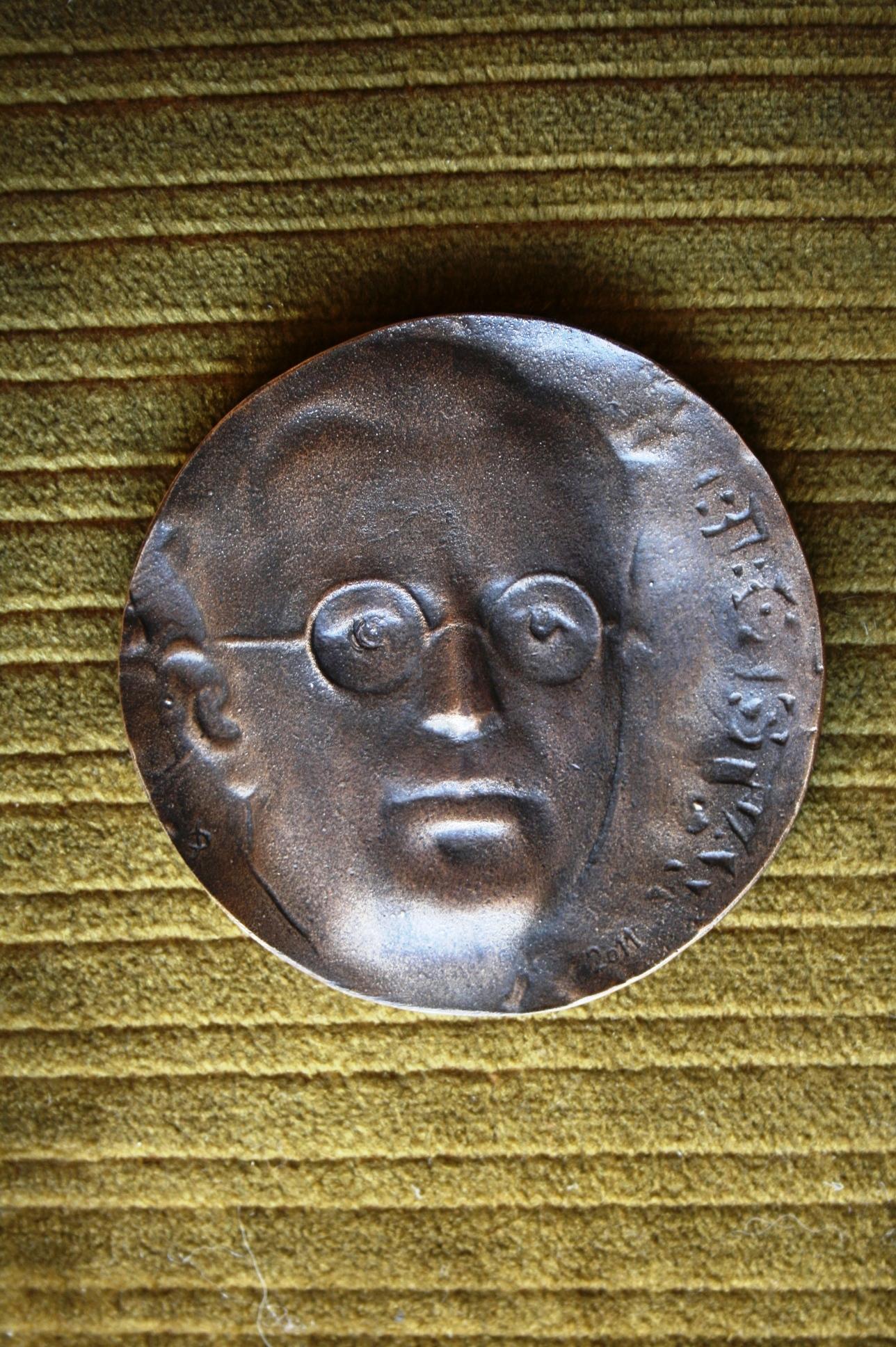 István Bibó's memorial coins and plaquettes.Master: Dudás, Sándor 2011.