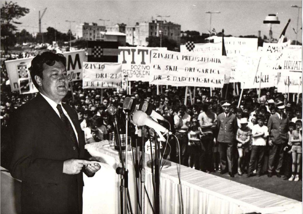 Miko Tripalo in Zadar in 1971.