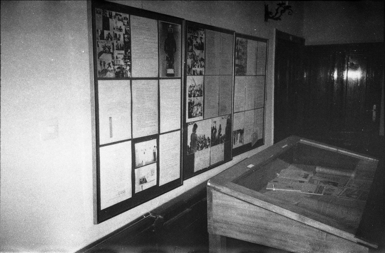 View of the exhibition Underground art in the Aczél era, Kossuth Club, Budapest, 1990