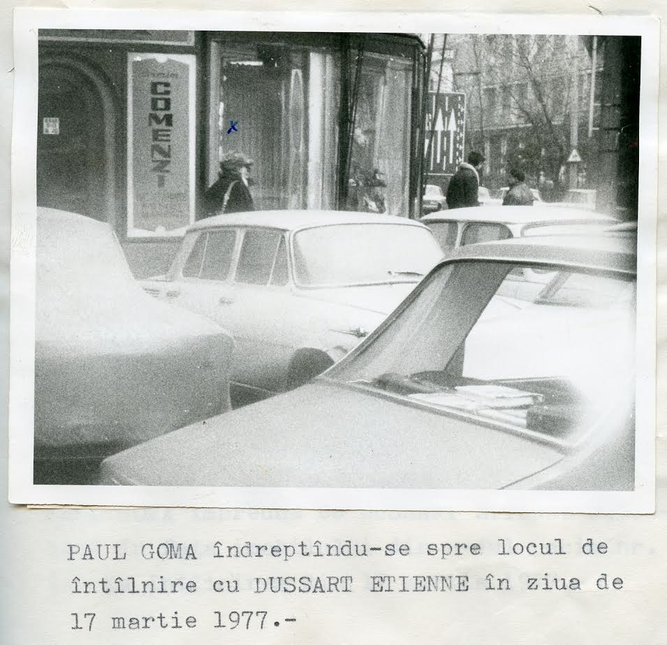 Picture taken during Paul Goma's surveillance, 17 March 1977