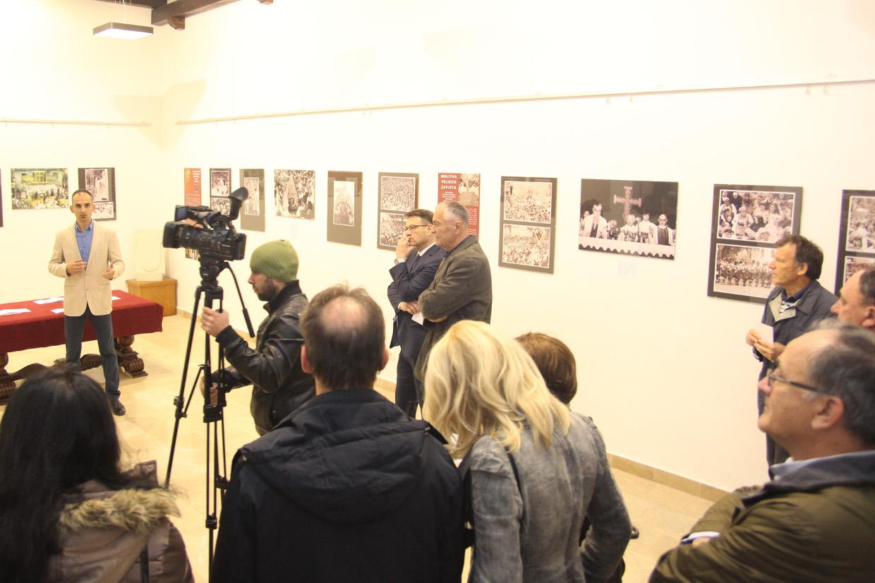 Opening of the exhibition.
