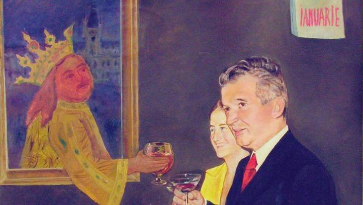Stefan the Great and the Ceaușescu couple by Dan Hatmanu