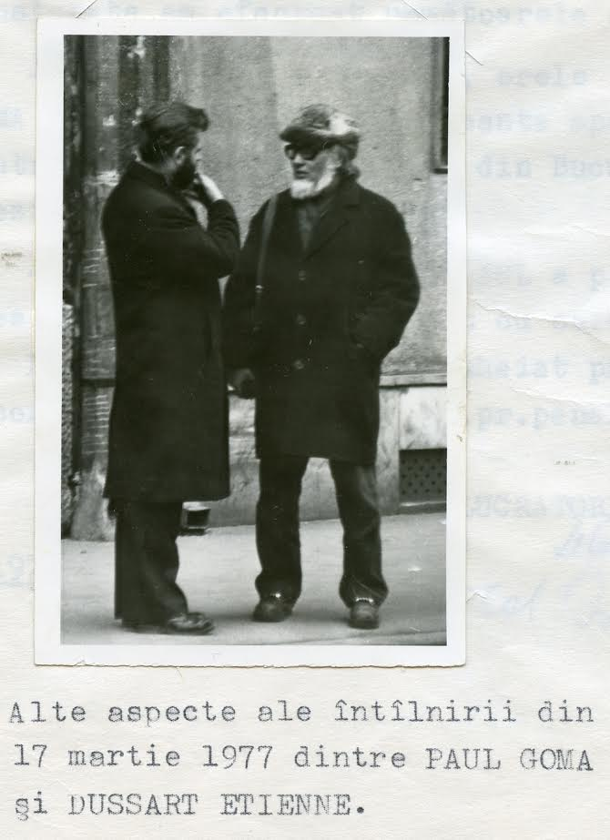 Close-up of Goma's meeting with a western diplomat, 17 March 1977