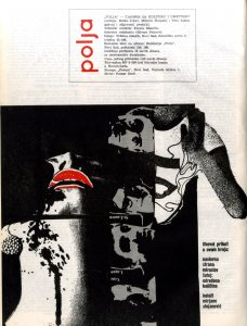 Cover of Polja, magazine for literature and culture, number 317/318 (Jun-July 1968)
