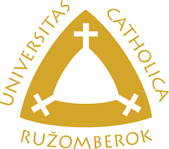 The coat of arms of the Catholic University in Ružomberok
