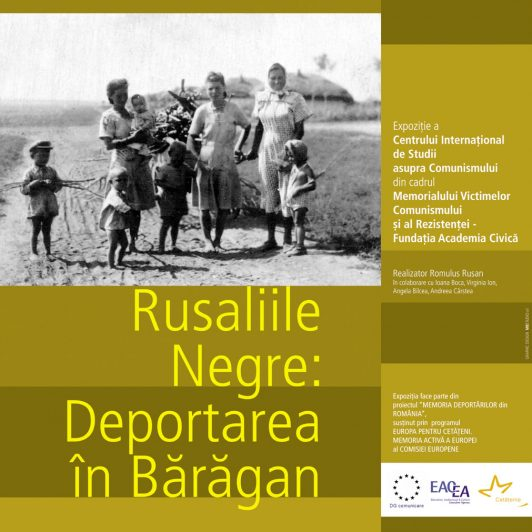"""Poster of the exhibition """"Black Whitsunday: The Deportations to the Bărăgan"""""""