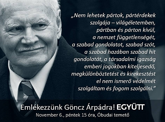 'Remember for Árpád Göncz together!' - a public call for participation at the funeral of Hungary's ex-president