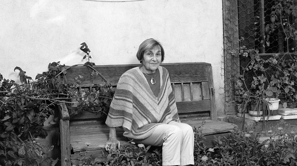 Doina Cornea at home in her garden in the 1980s