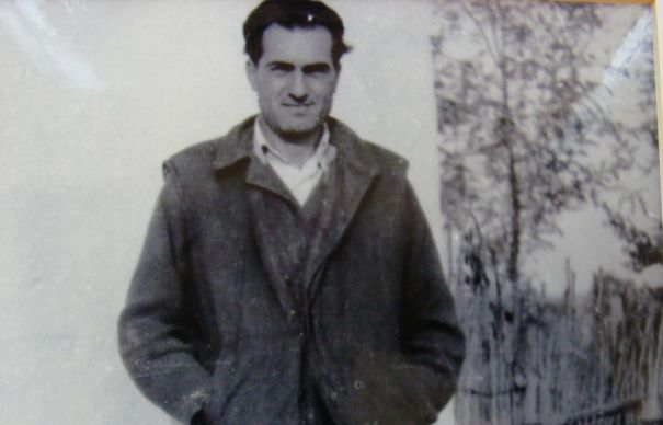 Adrian Marino during house arrest in the village of Lățești, Bărăgan, Romania, early 1960s.