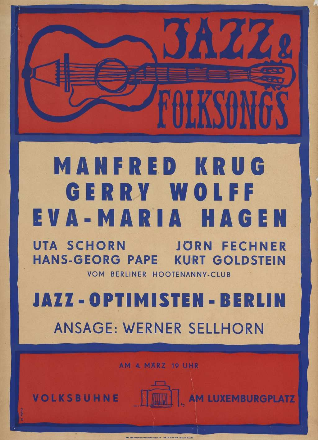 Poster for Jazz & Folksongs, 1967
