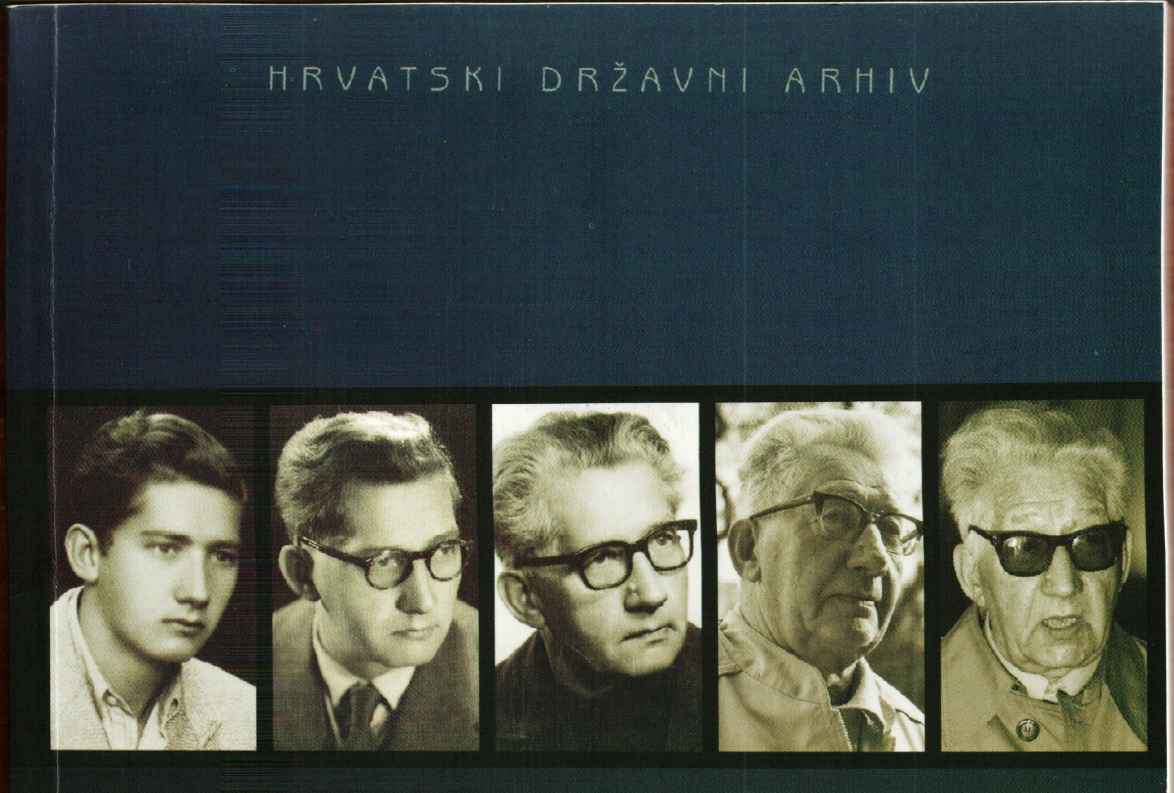Part of the cover of the book Personal Archival Fund Rudi Supek: Analytical Inventory (Zagreb: Croatian State Archives, 2010), by Marijan Bosnar.