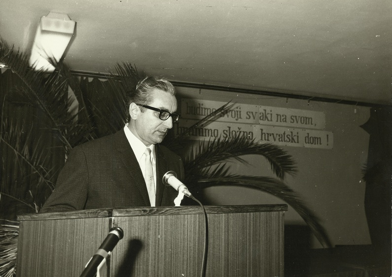 Historian Franjo Tuđman holding a speech during the Croatian Spring in 1971 (http://www.tudjman.hr/)