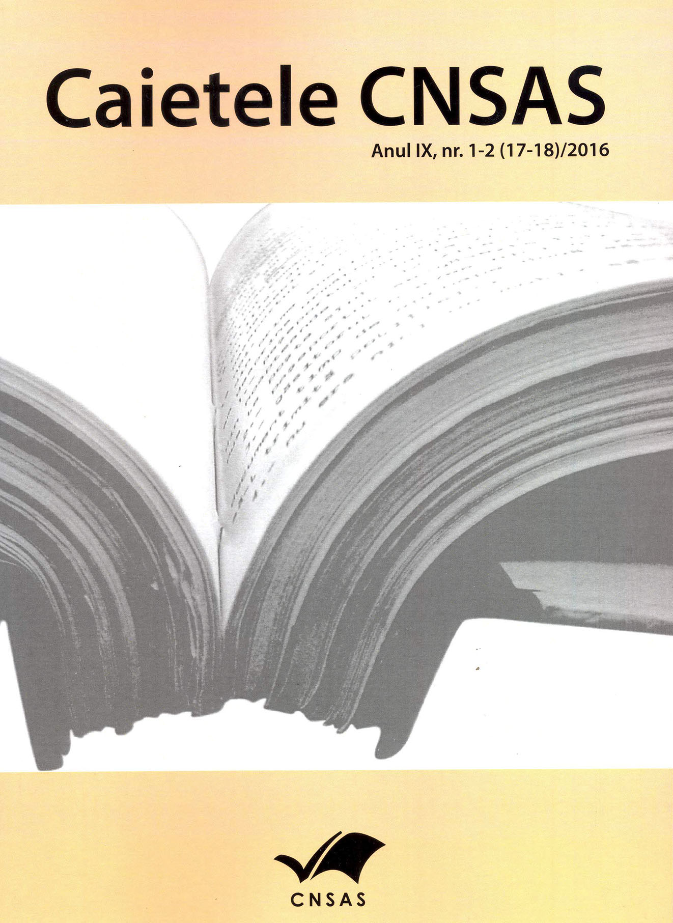 The front cover of CNSAS Notebooks