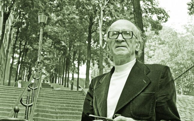 Mircea Eliade in Paris during late 1970s