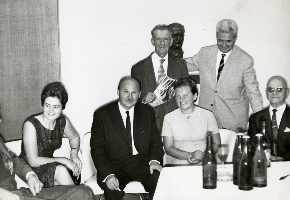 President of the Emigrant Foundation of Croatia Većeslav Holjevac with the emigrants, 1960s