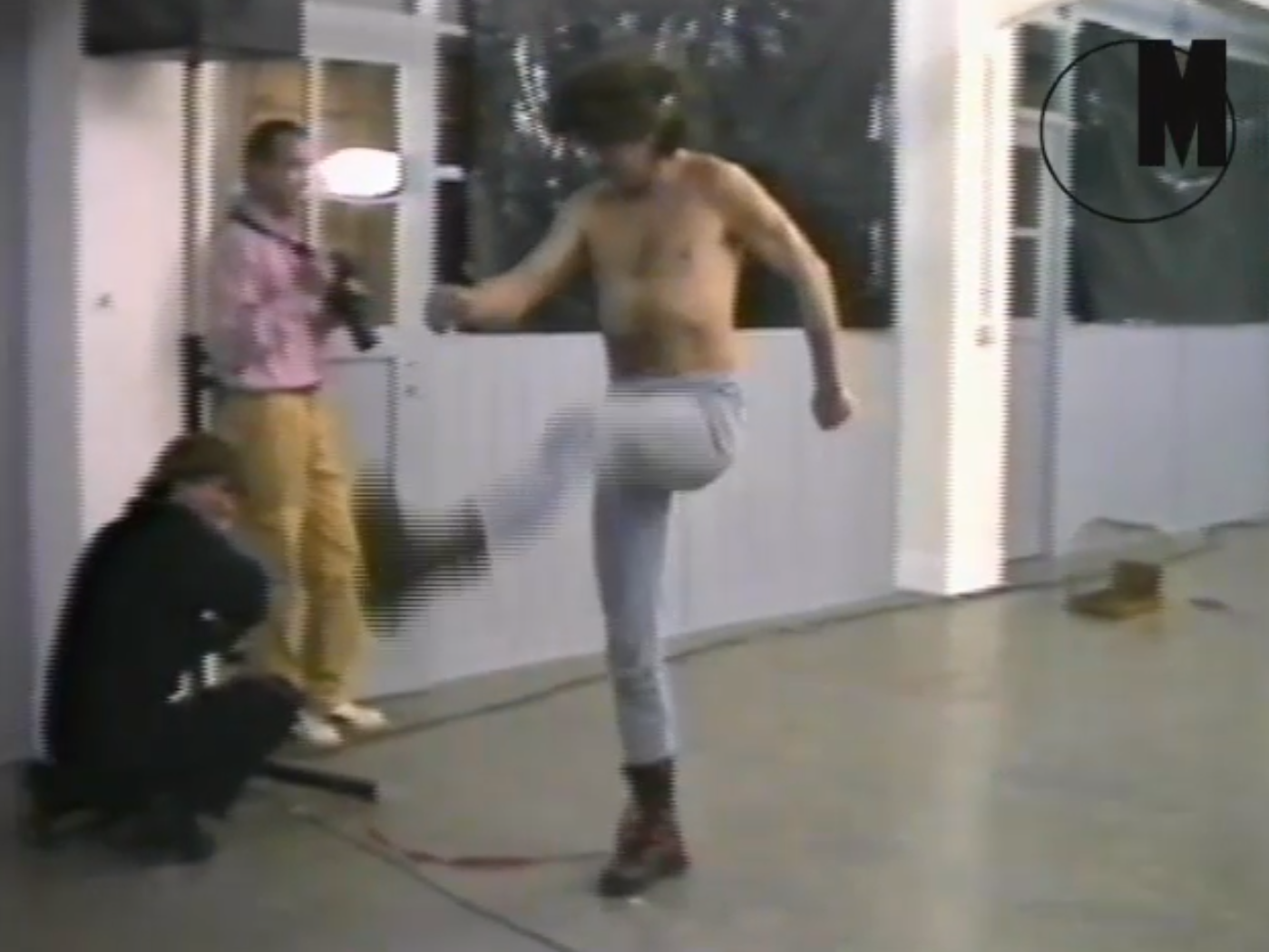 Zbigniew Warpechowski, 'Marsz' [March], stillframe from a video registration of a performance, Stuttgart 1984, courtesy of Artists' Archives of The Museum of Modern Art in Warsaw.