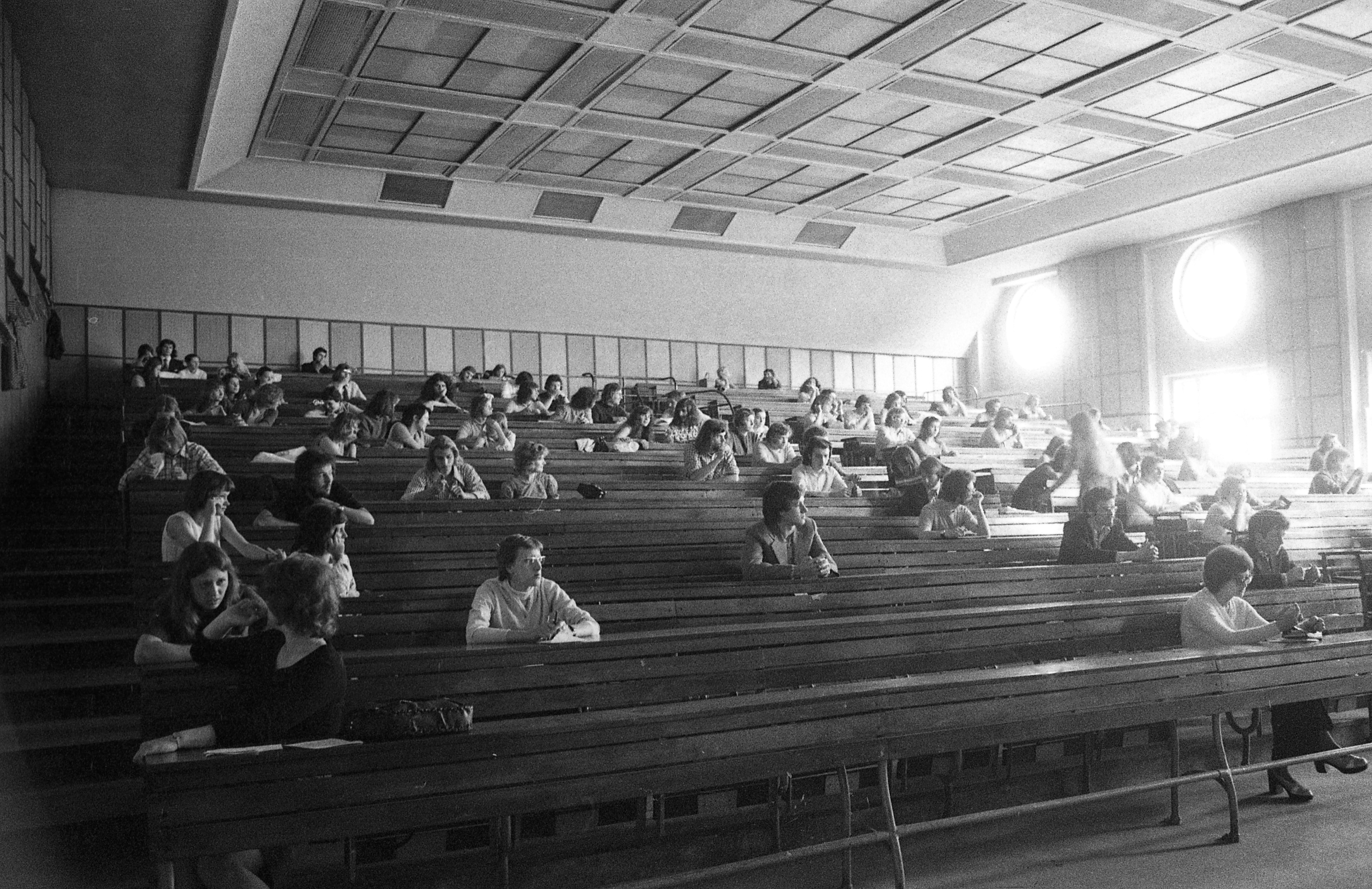 Auditorium in the Eötvös Loránd University of Sciences, 1974.