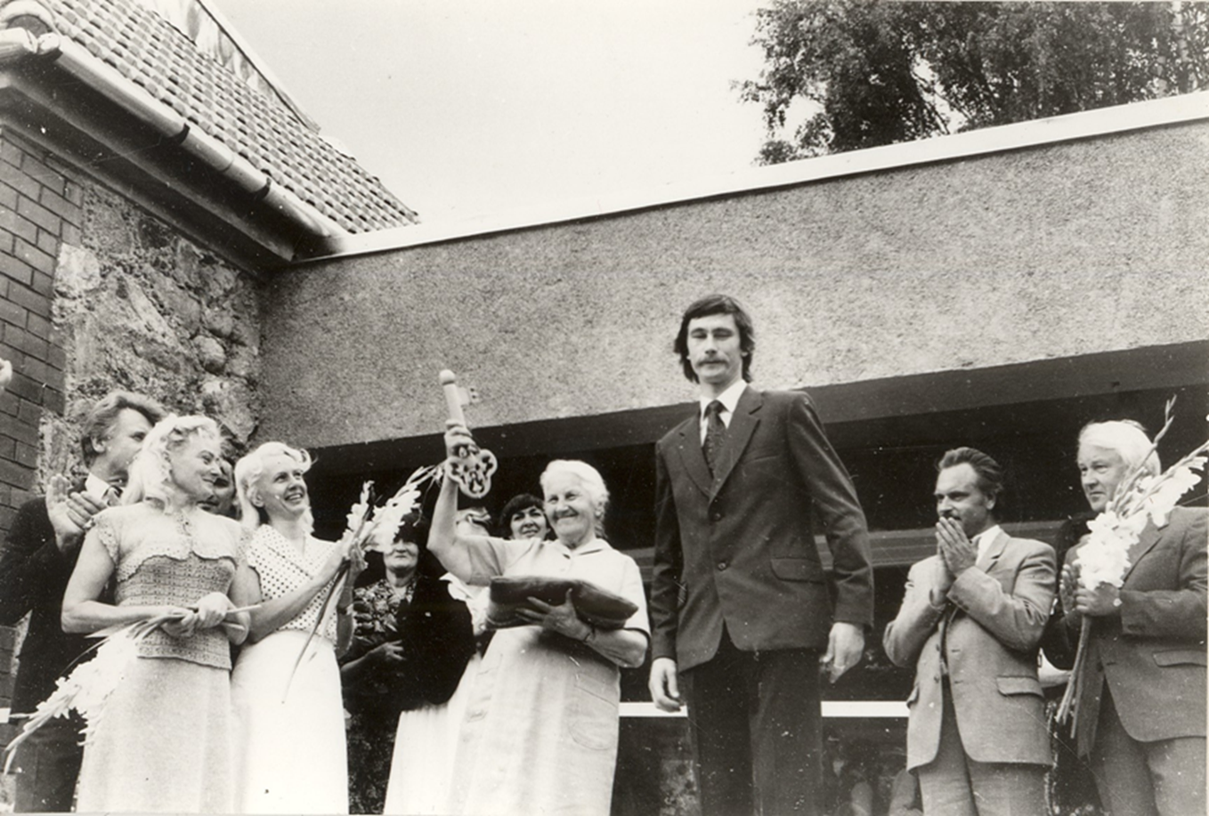 Opening of the Madona Local History and Art Museum exhibition halls in 1984.