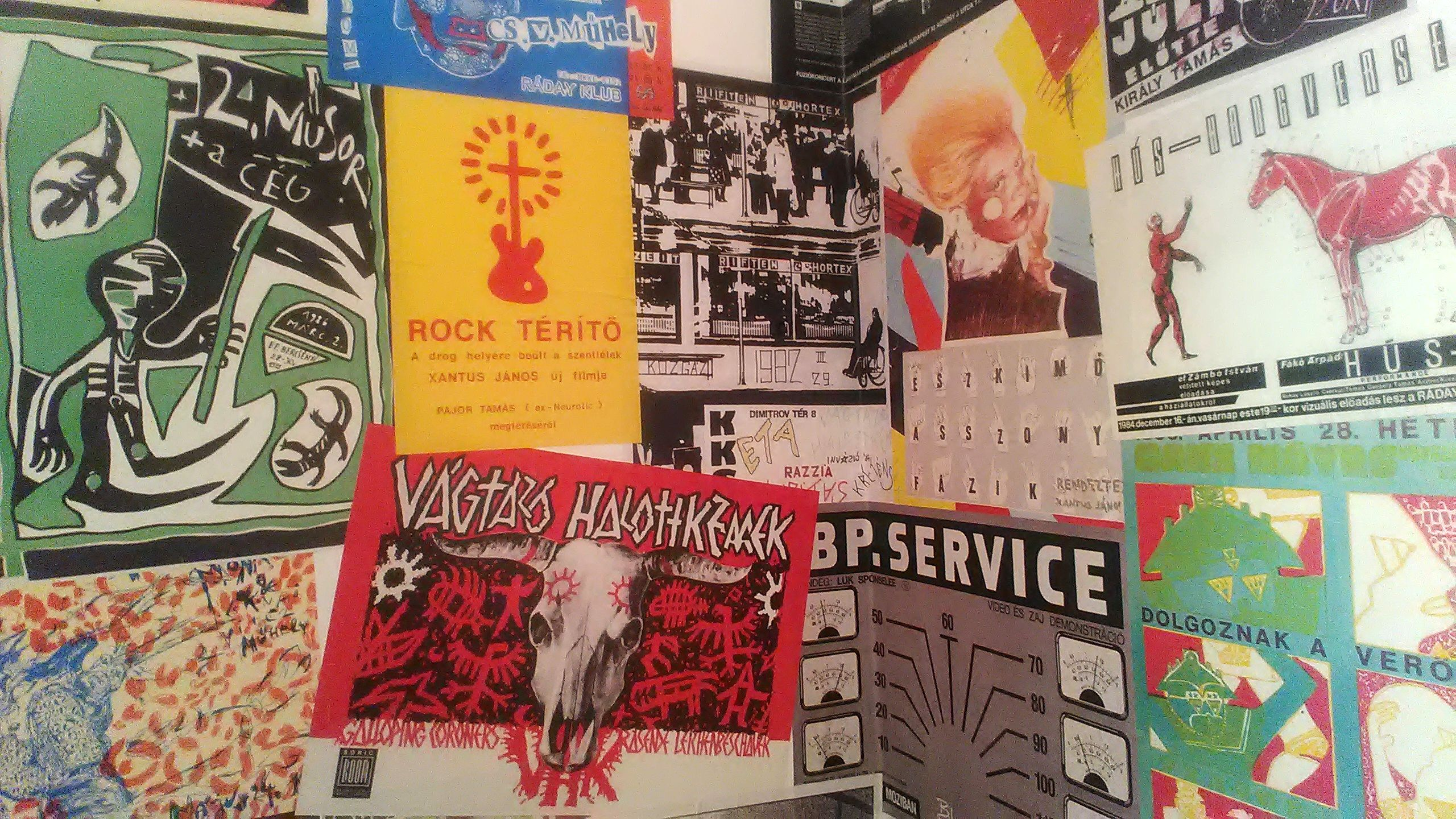 Reproductions of Posters at the Exhibition 'Hellish Golden Age', 2017.