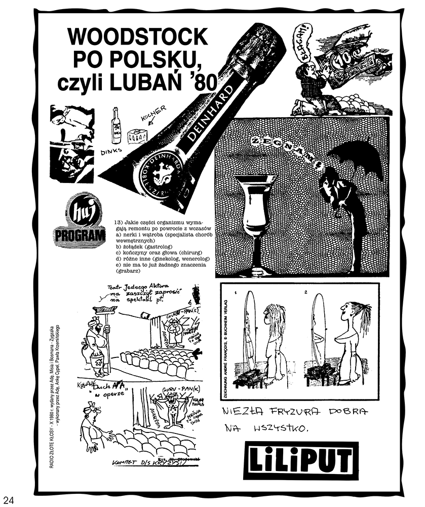 "A page from the punk fanzine Radio Złote Kłosy published by ""Ada"" Dąbrowska in 1980 reprinted in the album Polski punk 1978-1982."
