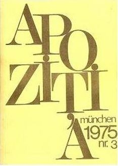 Front cover of Apoziția magazine
