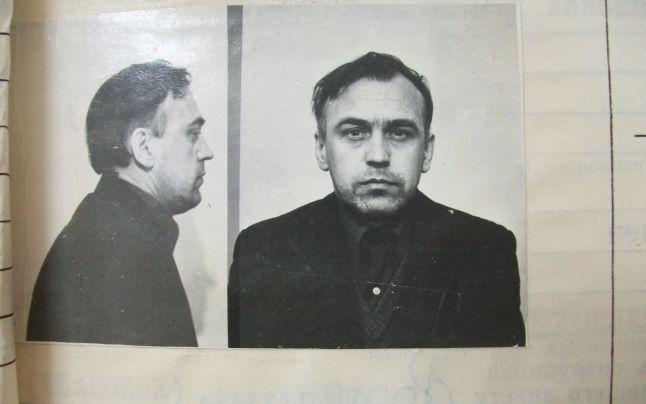 Fotografia lui Viktor Koval din dosarul său KGB, 1982.