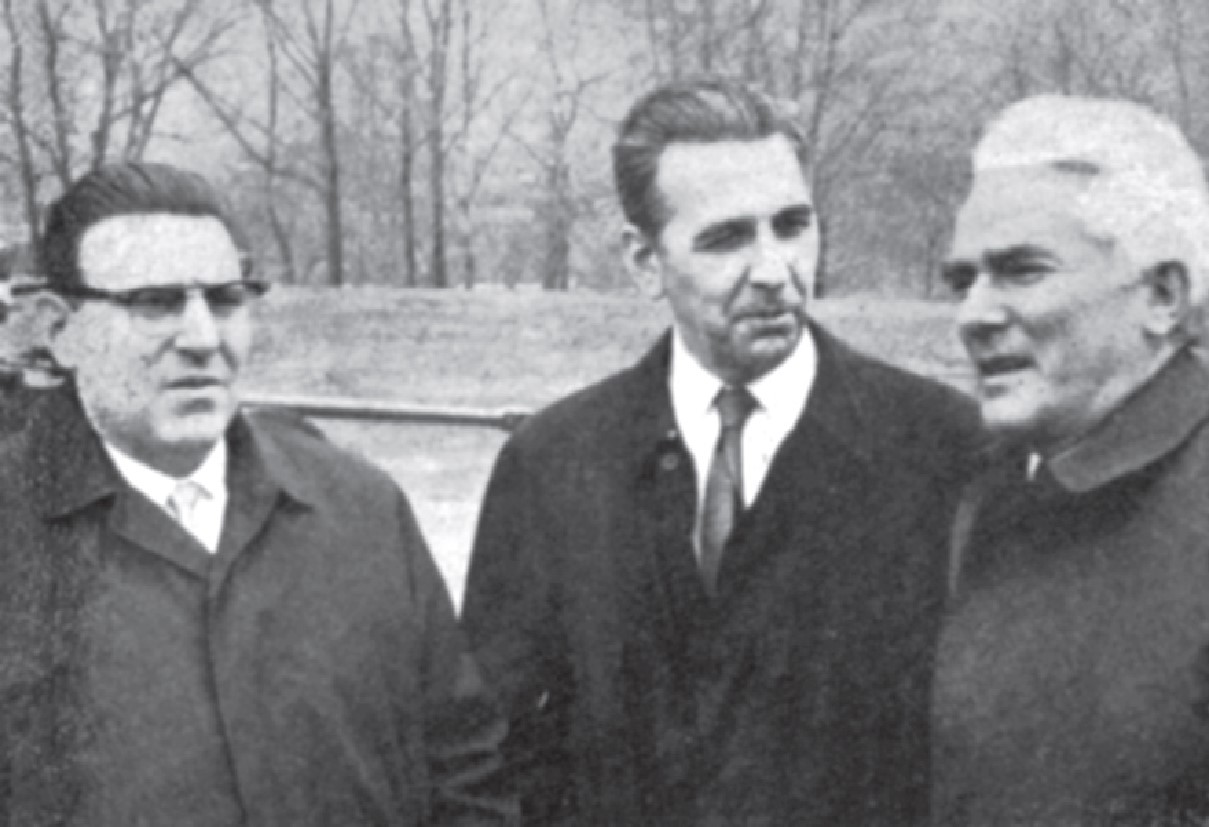 Jere Jareb together with Karlo Mirth and Vinko Nikolić in New Yorku, 1965.