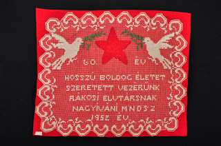 One of the presents of Rákosi, Mátyás's 60th birthday. Nagyiván (Hungary), 1952.