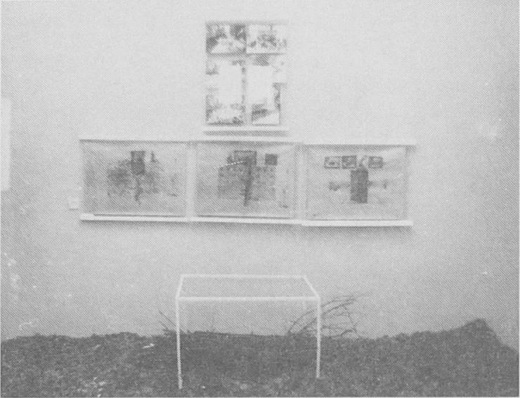 Imre Baász: The Chances of Survival, installation, 54x78 cm, 1981