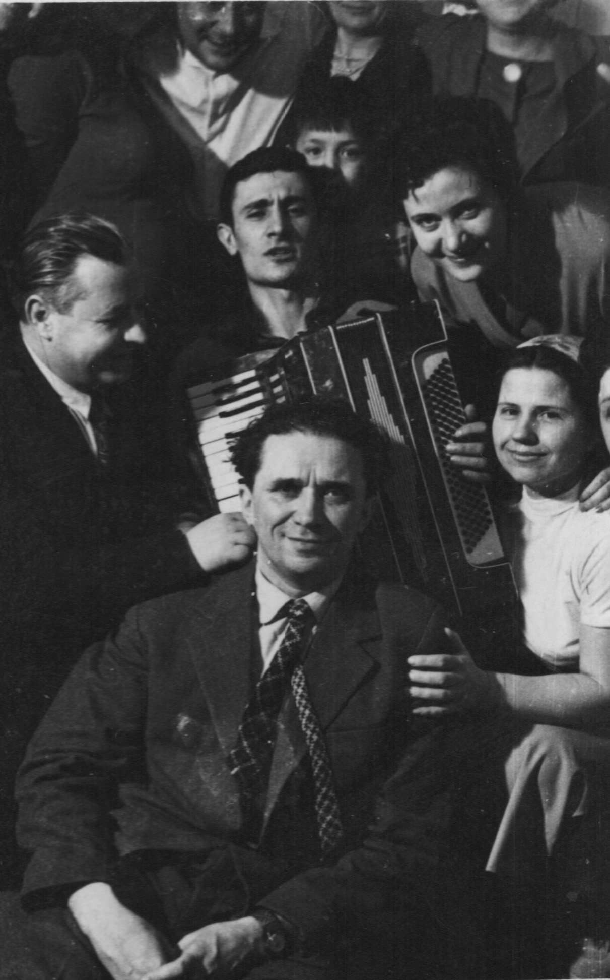 Nicolai Costenco with a group of Moldavian writers, 1960s