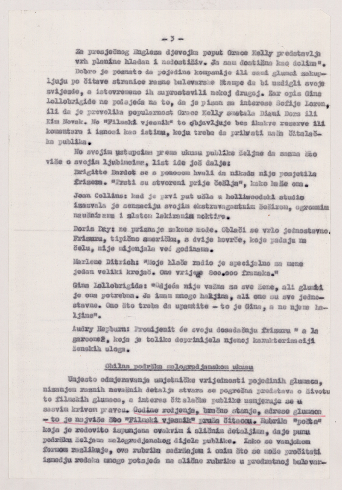 Page 3 of the analysis of the Film News magazin writing.