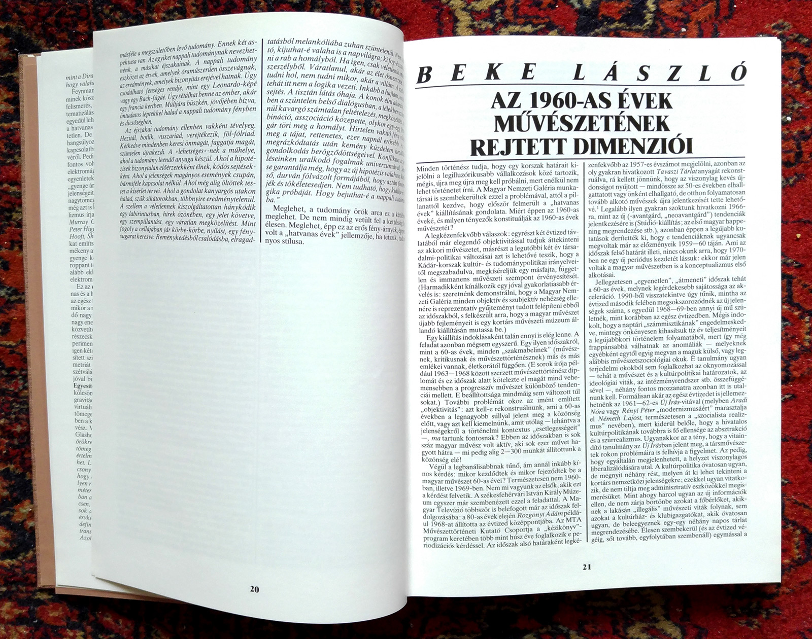 Deatil of the exhibition catalogue Sixties: New pursuits in Hungarian Fine Arts