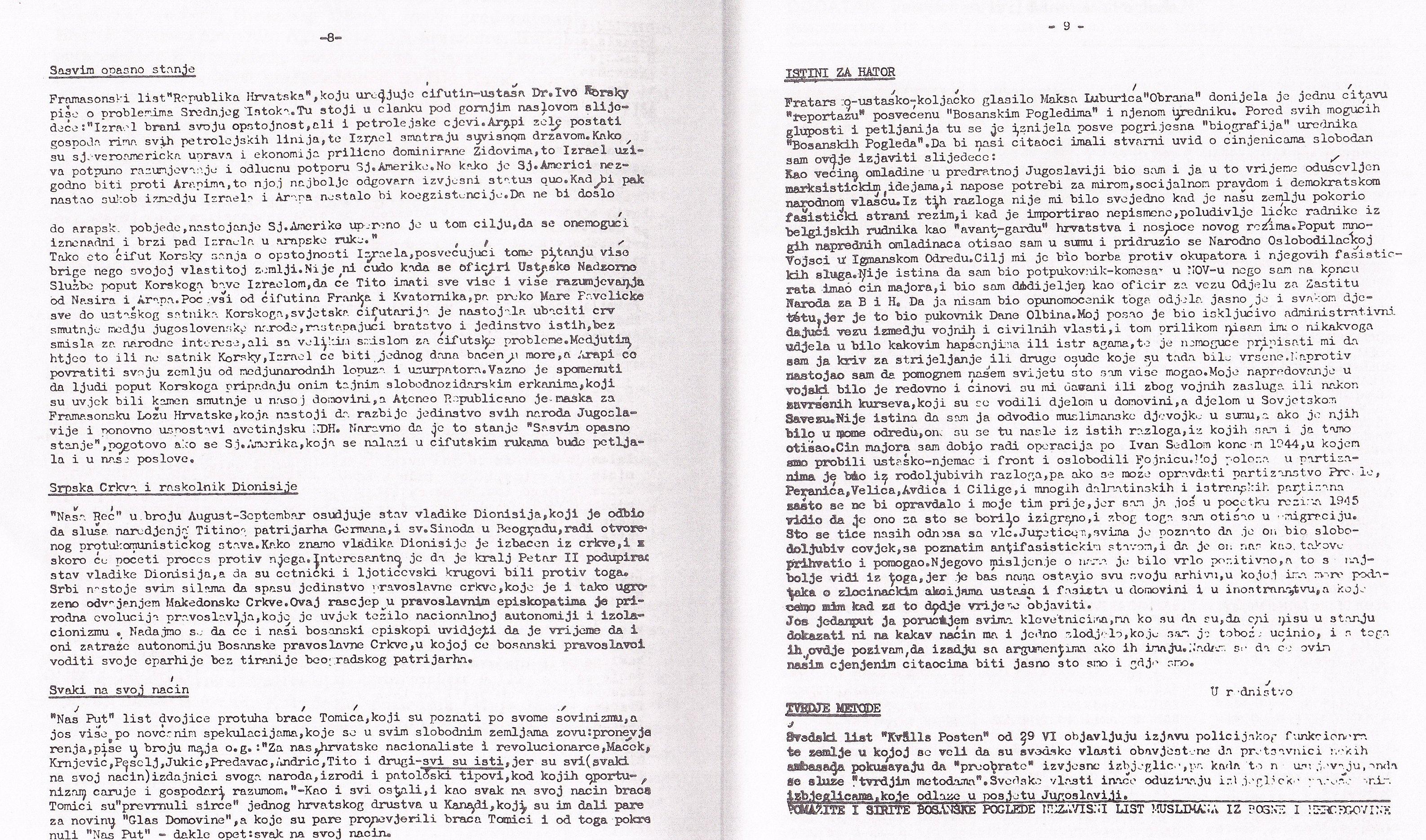 Bosanski pogledi Falsificat