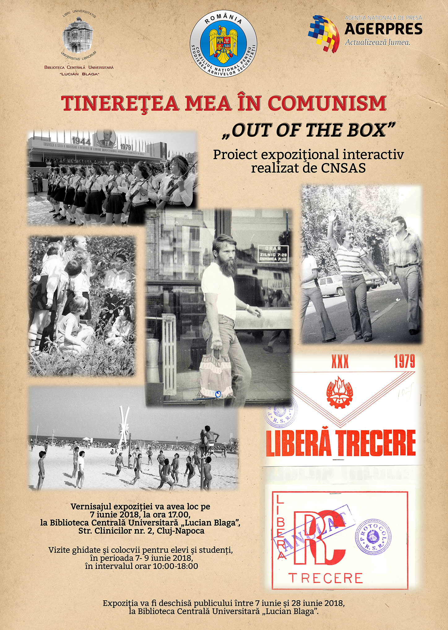 Poster of the exhibition My Youth under Communism, Cluj-Napoca, June 2018