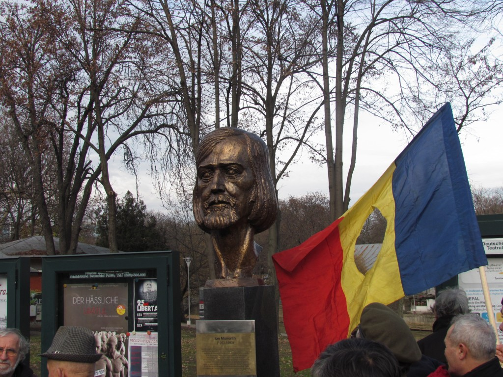 The unveiling of the bust of Ion Monoran in Timișoara, 16 December 2014