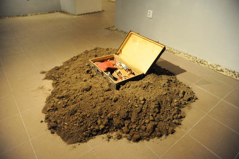 Imre Baász: The Burial of the Suitcase, performance, 1979