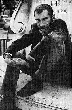 poet György Petri, Budapest 1988
