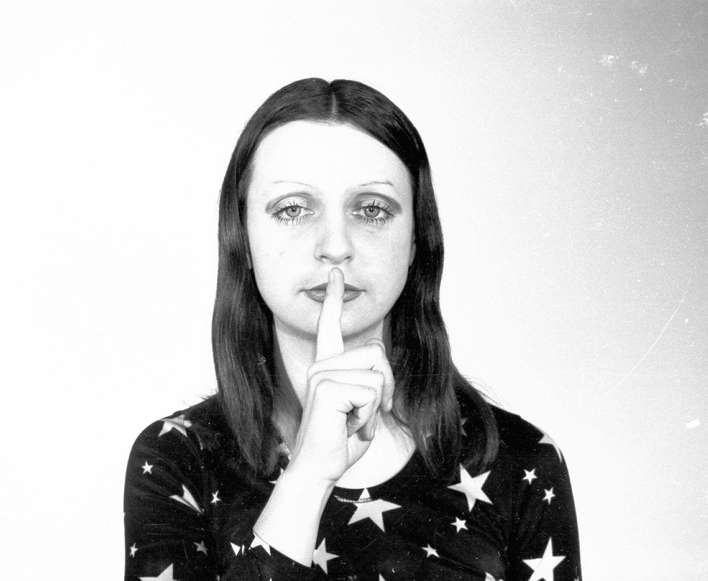 "Ewa Partum, ""Exercises"" 1972, photo by Ewa Partum."