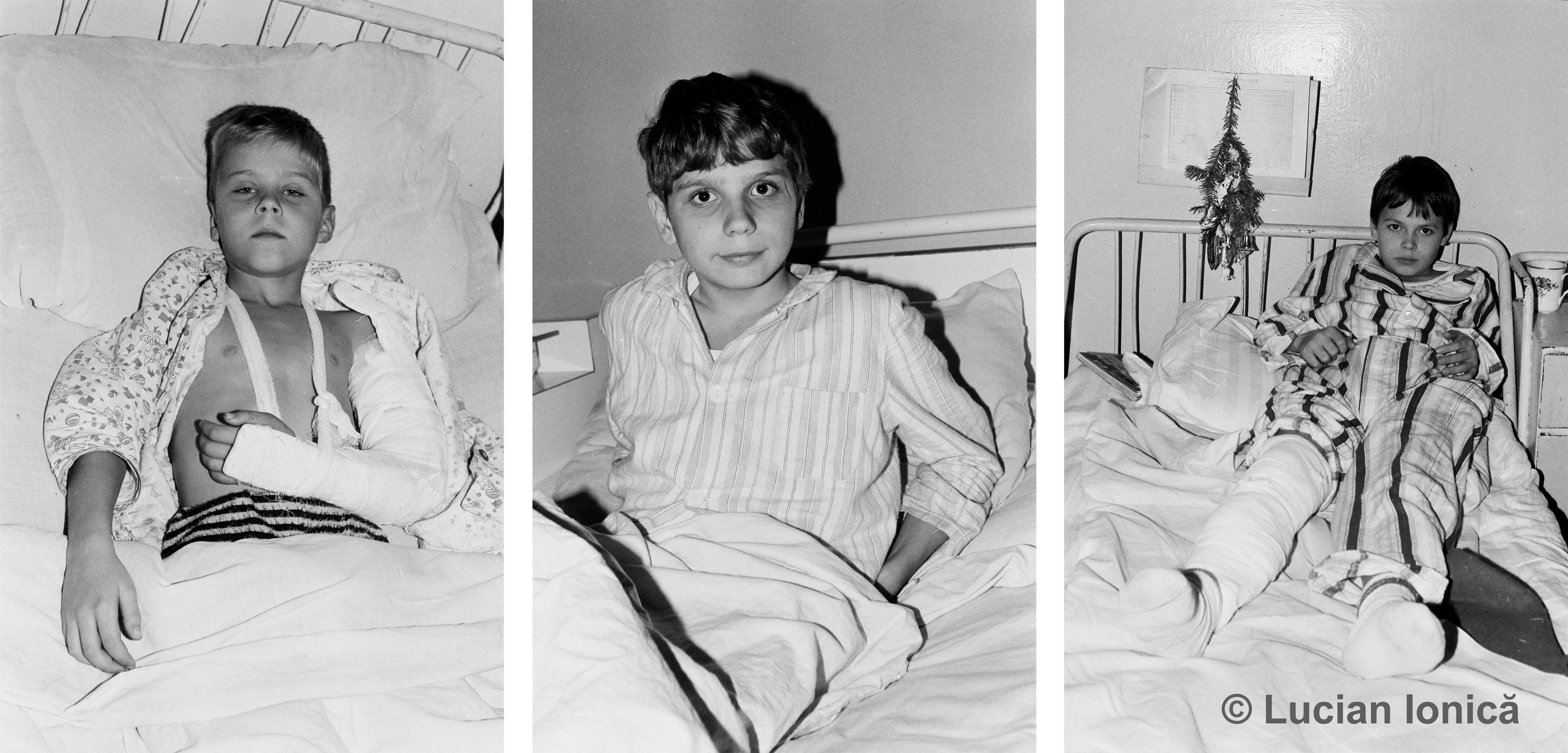 Wounded children, Timișoara, December 1989
