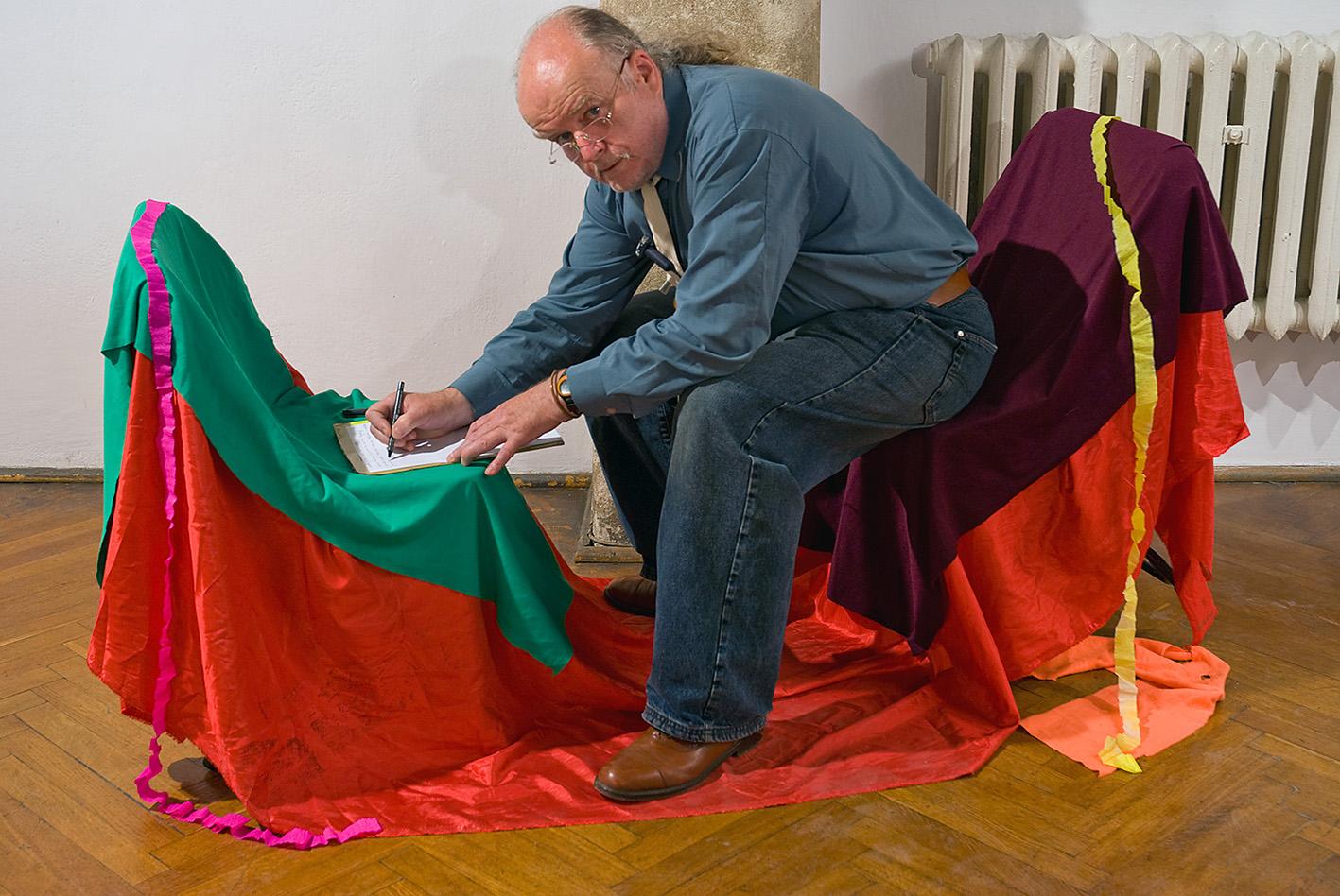 Przemysław Kwiek during his 'Appearance' in Glasgow, 2011.