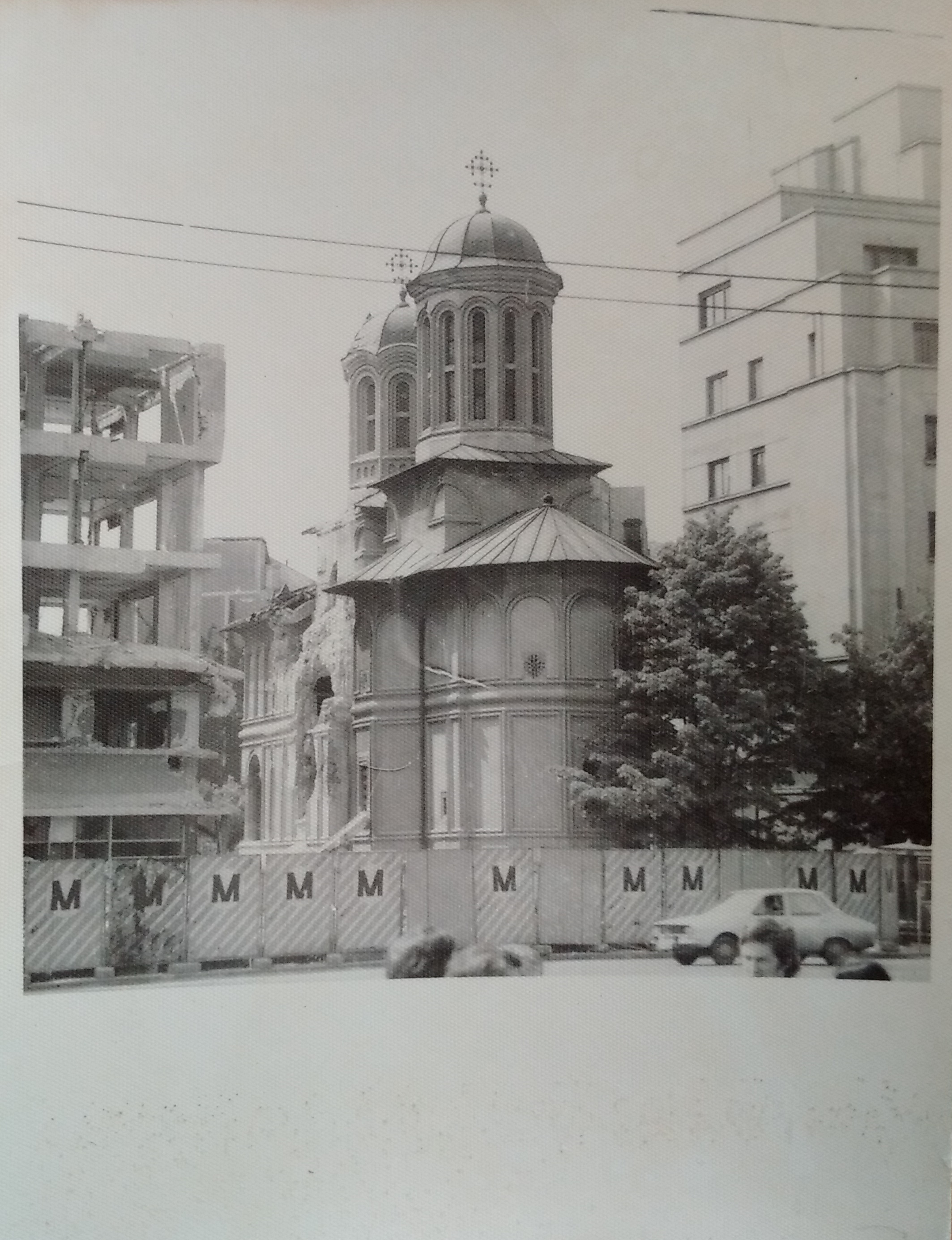 Enei Church damaged by the 1977 earthquake before demolition
