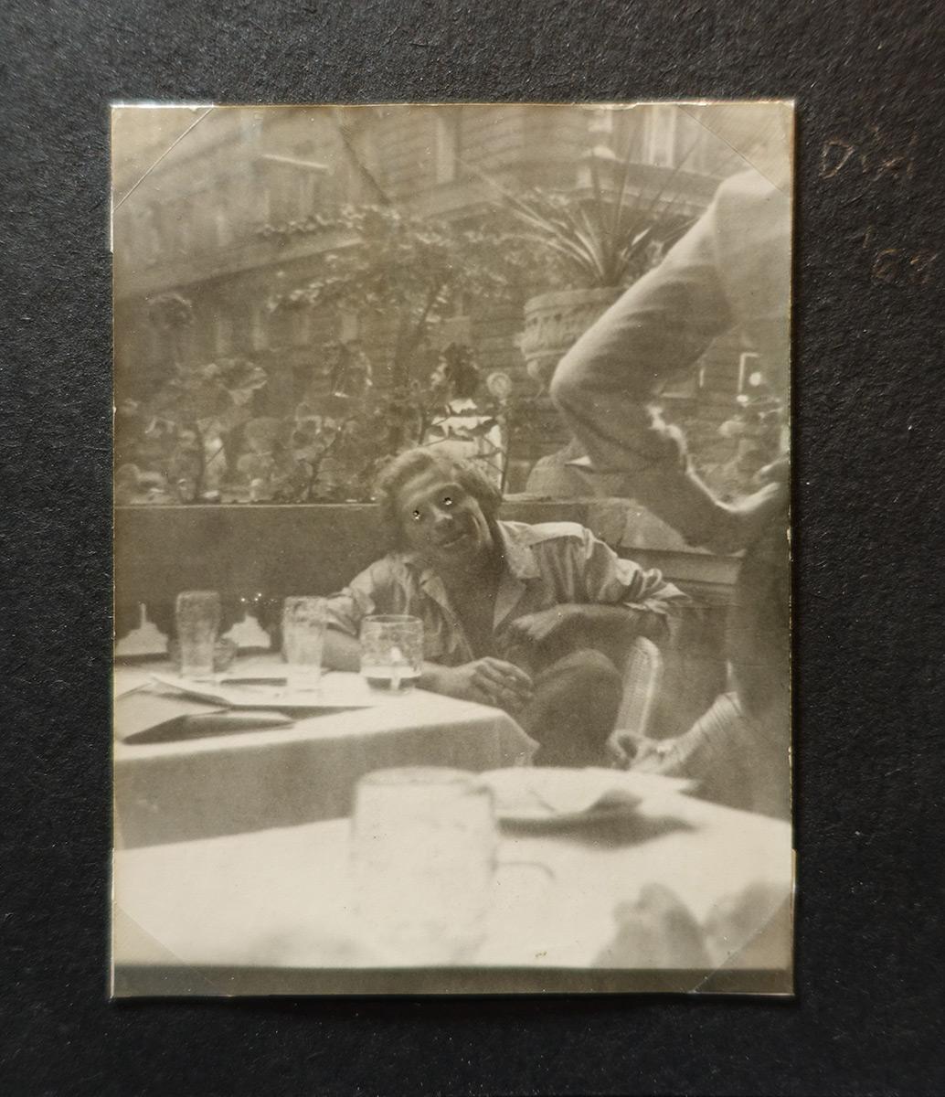 Dixi at the terrace of Kárpátia, Budapest, 1969