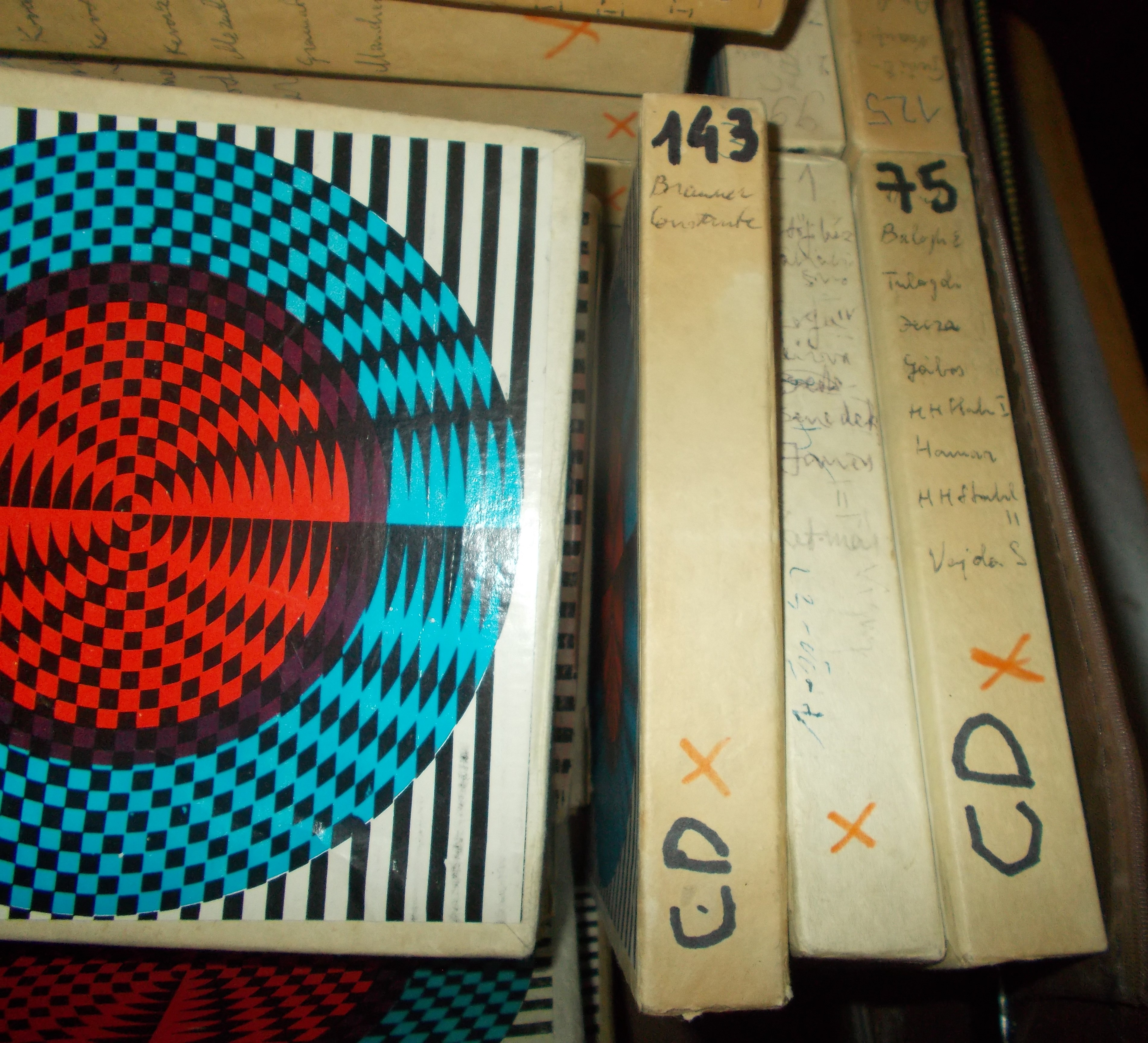 Magnetic tapes with the recording of the oral history interview made by Zoltán Rostás with Harry Brauner and Lena Constante